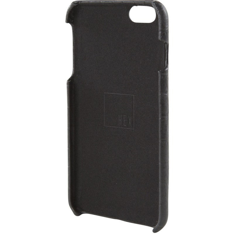 Hex Solo Wallet for iPhone 6+ | Black Croc