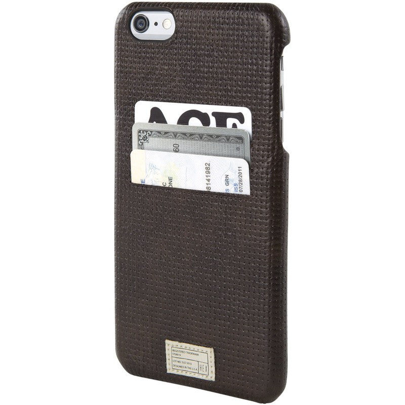 Hex Solo Wallet for iPhone 6+ | Brown Woven