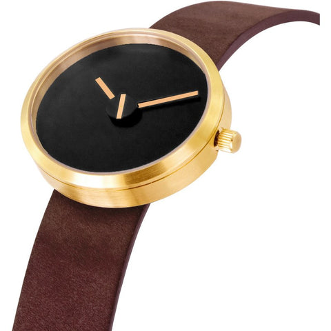 Projects Watches Denis Guidone Sometimes Brass and Sassy Watch | Brown