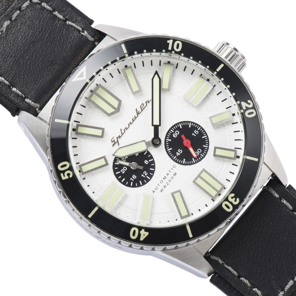 Spinnaker Hass Vintage SP-5032-03 Watch | Silver White