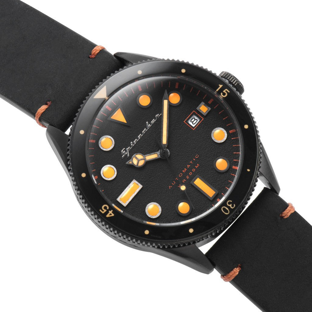 Spinnaker Cahill Vintage Diver SP-5033-03 Watch | Black