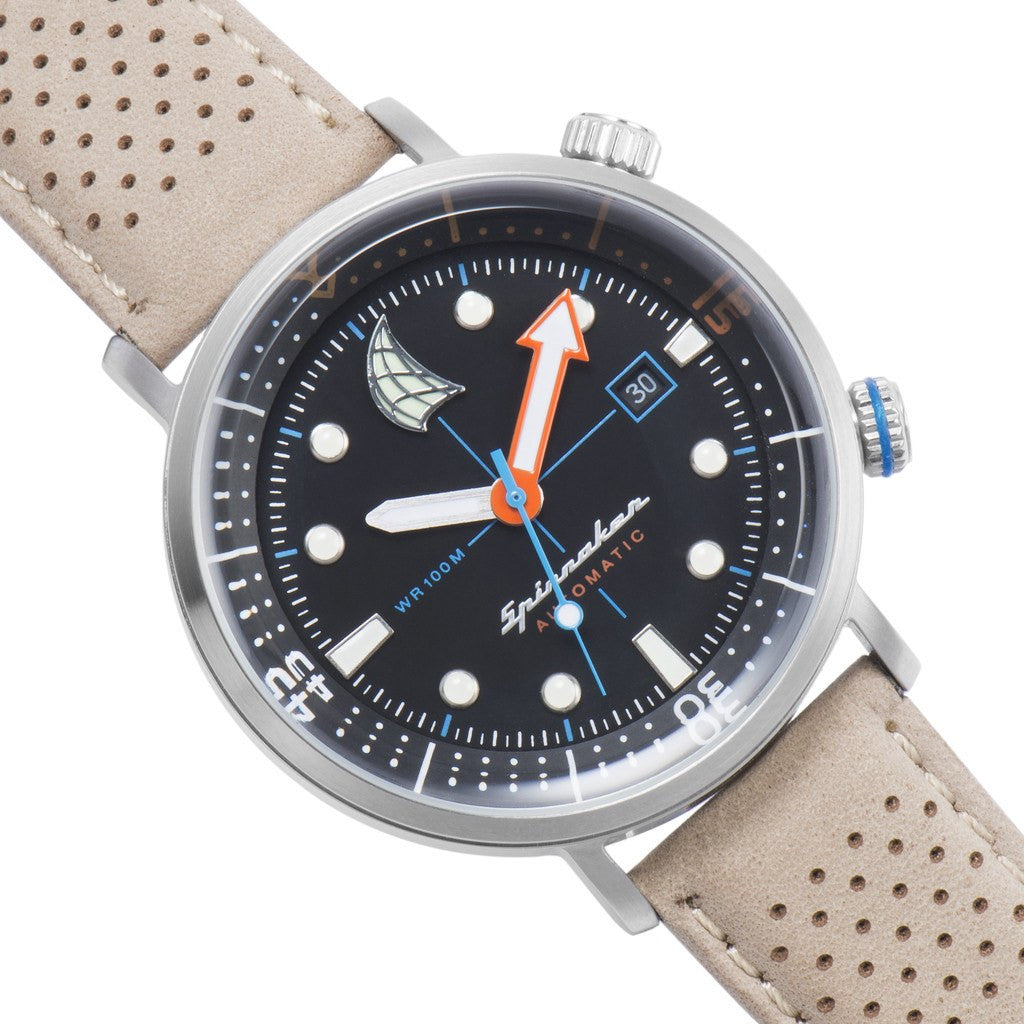 Spinnaker Tavolara Vintage SP-5037-01 Watch | Black