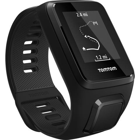 TomTom Spark 3 Cardio + Music GPS Fitness Watch & Headphone Bundle | Black