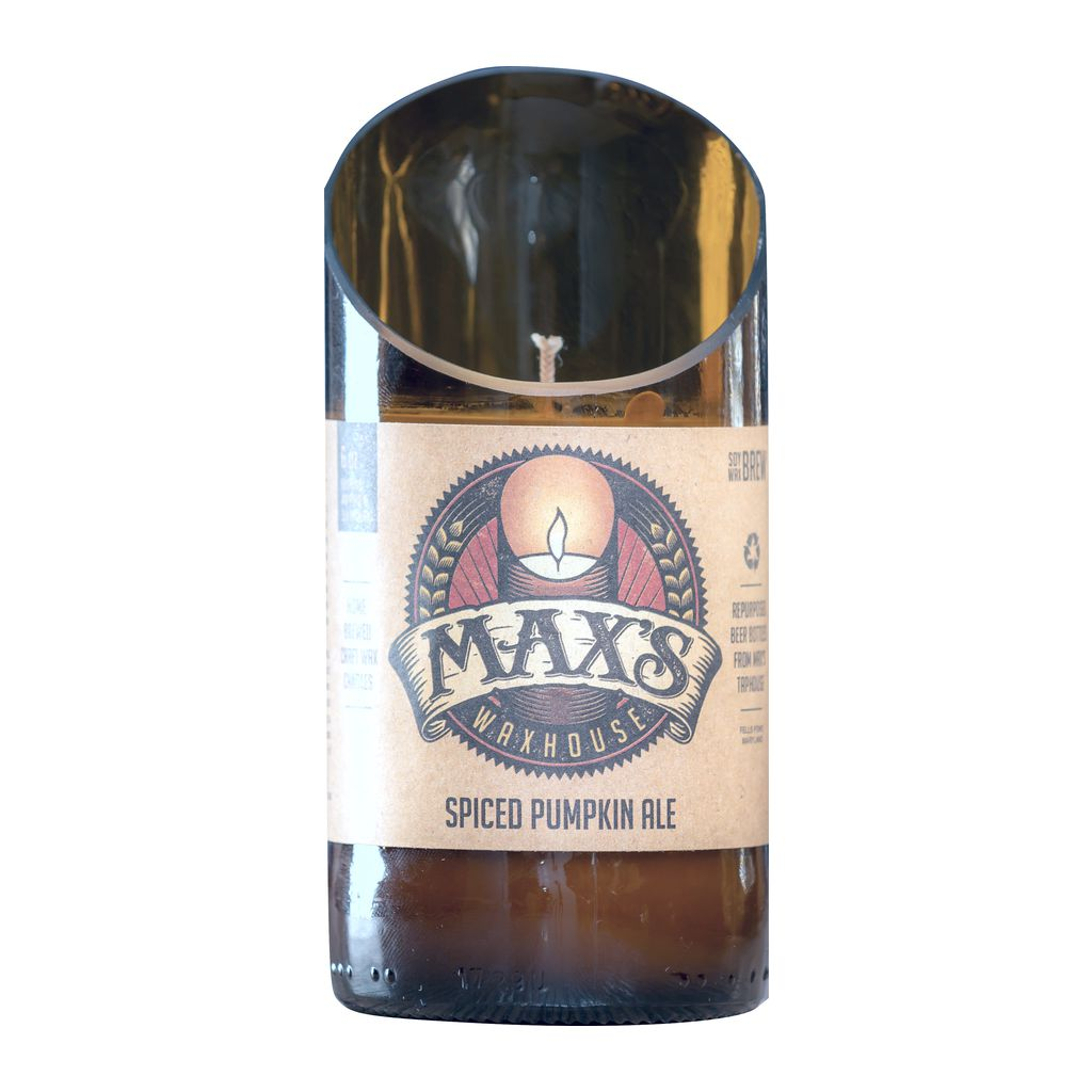 Max's Waxhouse 6oz Beer Bottle Candle | Spiced Pumpkin Ale