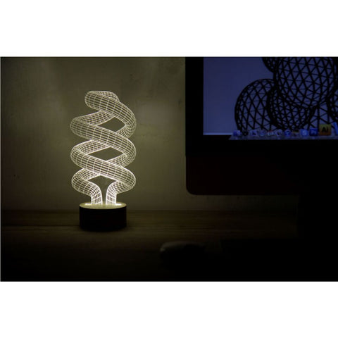 Studio Cheha Spiral LED Table Lamp | Iron/Birch Ch-Spiral