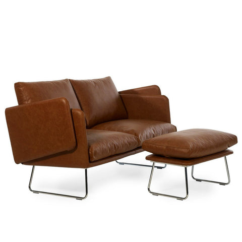 RS Barcelona Spongy Leather Sofa | Brown