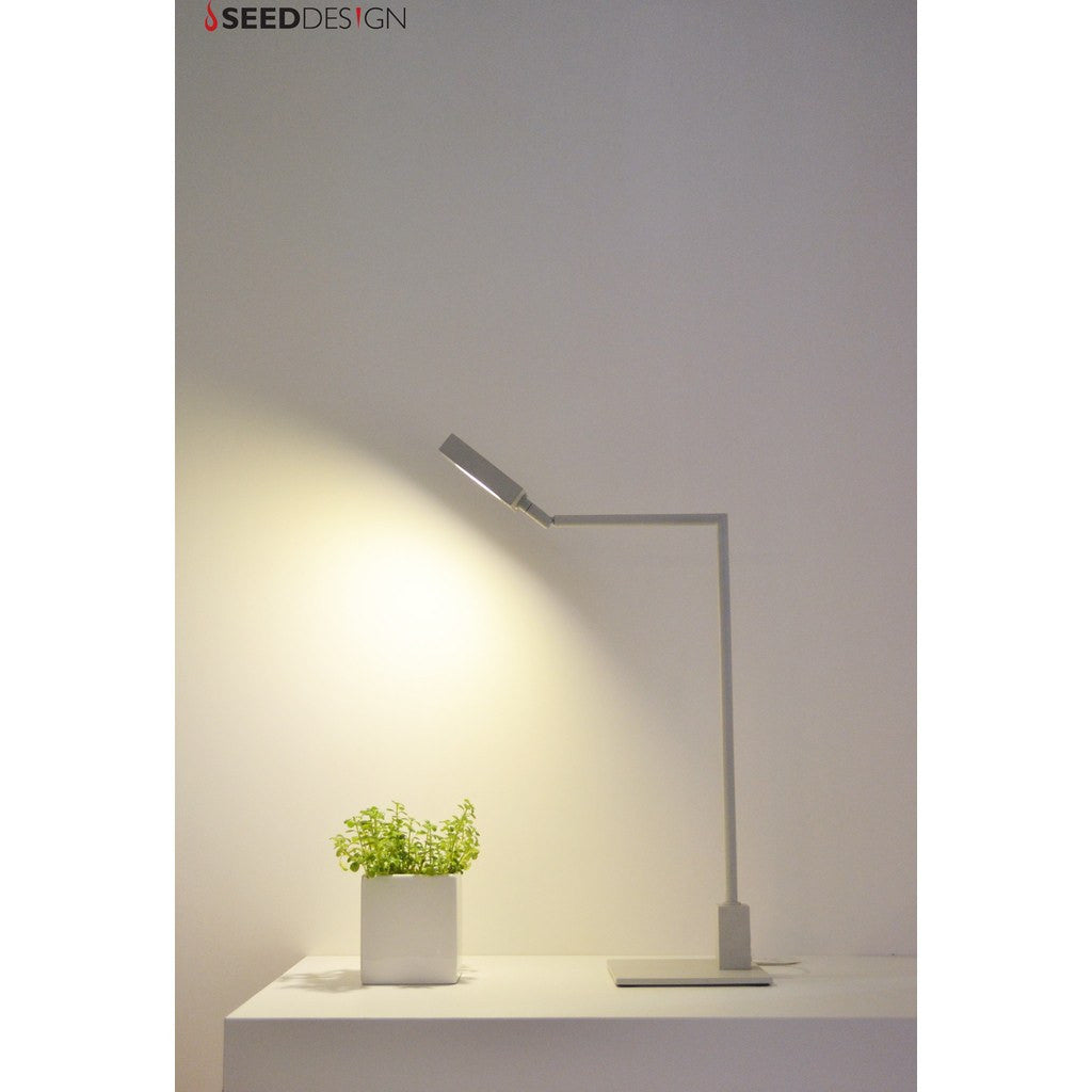 Seed Design Square Table Lamp | White SLD-981DRTE-WH