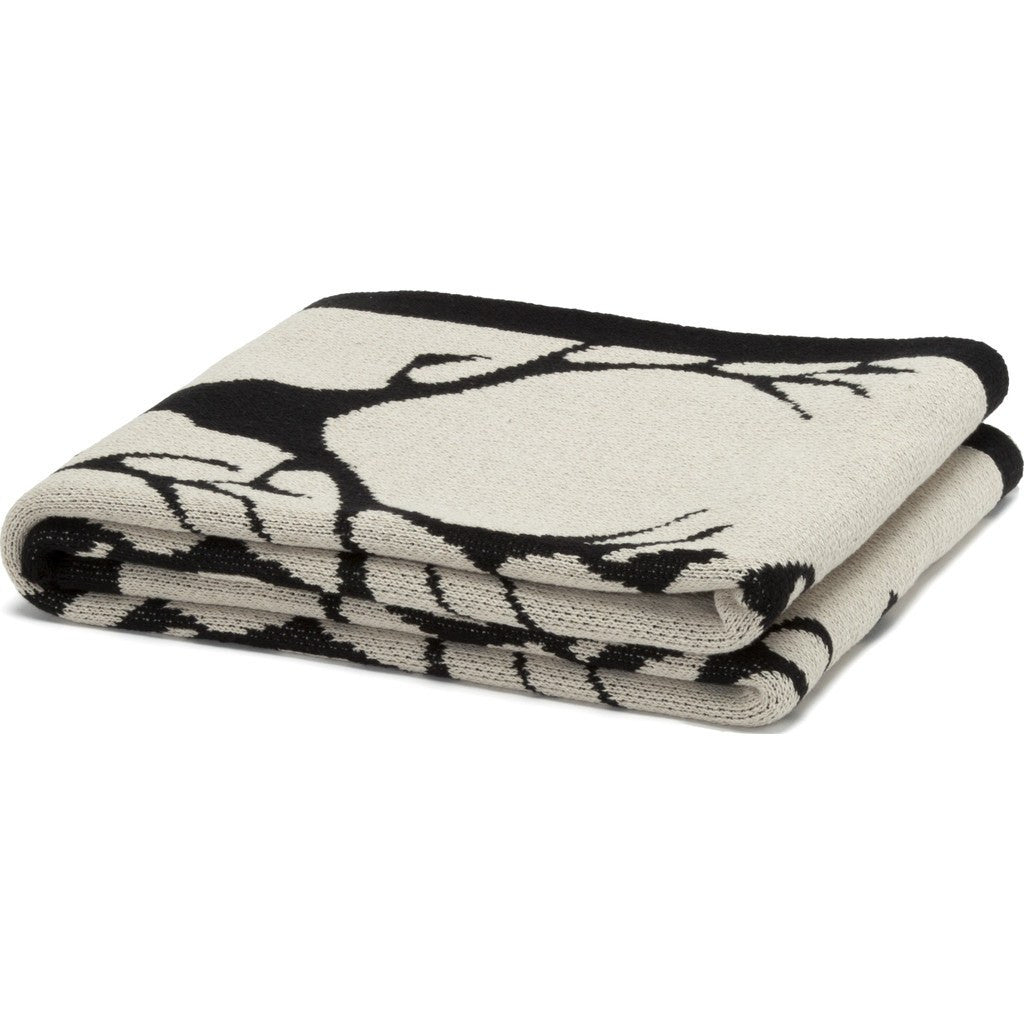 in2green Stag Longhorn Eco Throw | Flax/Black BL01STL1