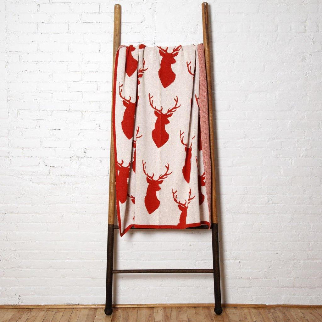 in2green Stag Silhouette Eco Throw | Spice BL01STS1