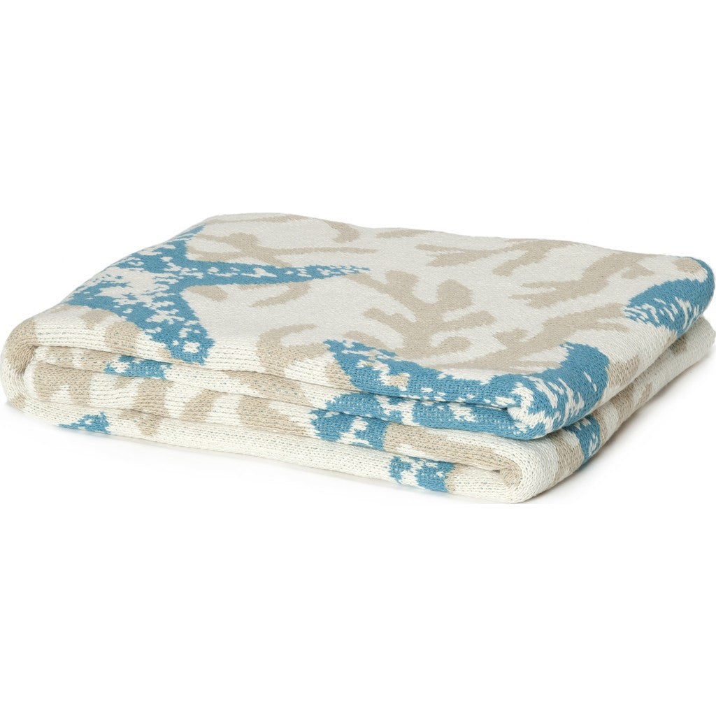 in2green Starfish Coral Eco Throw | Aqua BL01NSS1