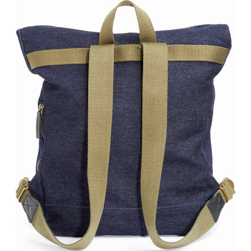 STATE Bags Smith Foldover Denim Backpack | Dark Wash