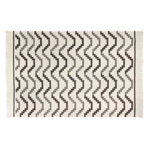 Revival Rugs Steppe Flatweave Wool Rug | Beige Cream