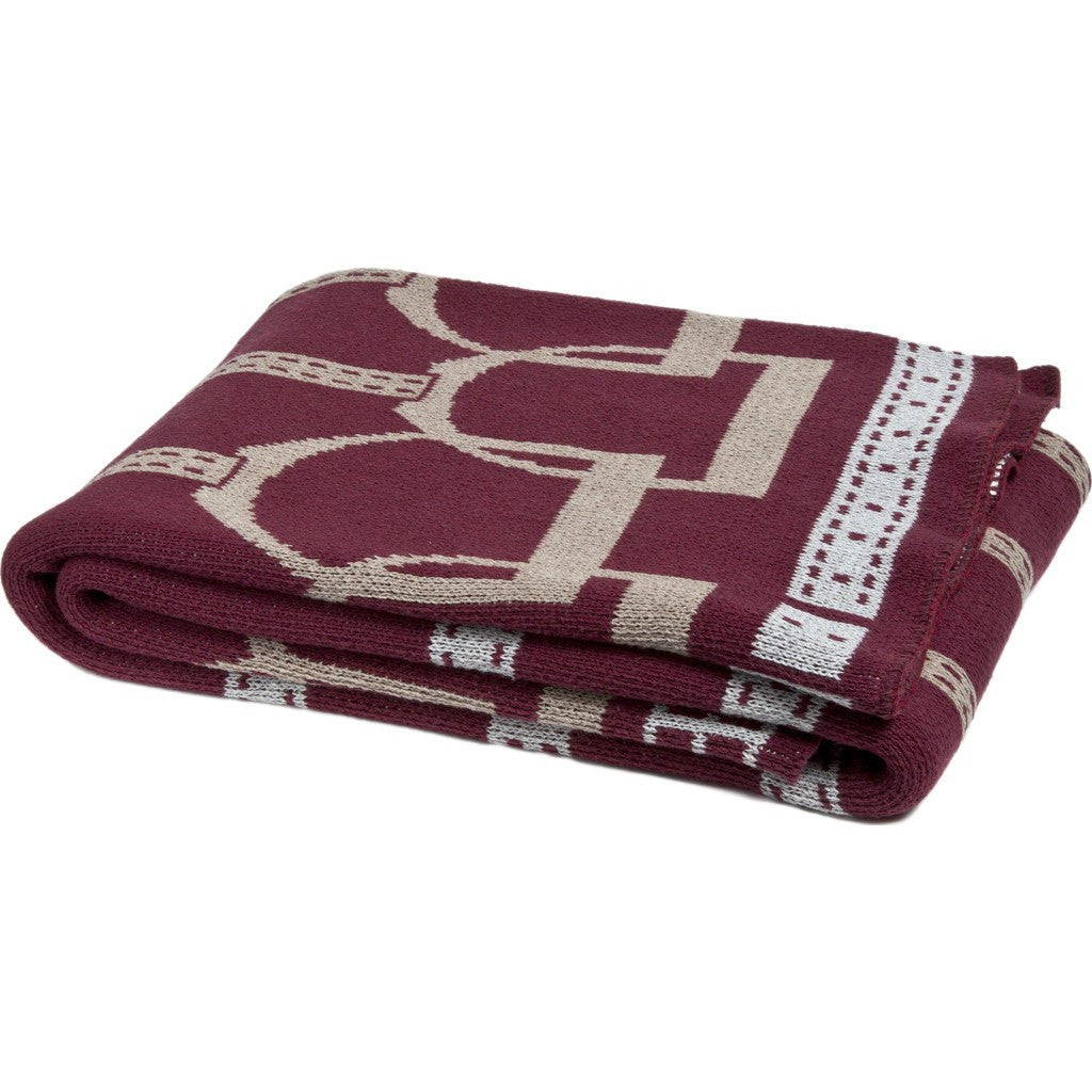 in2green Stirrup Eco Throw | Burgundy/Hemp/Alum BL01SU1