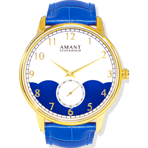 AMANT Stockholm Gold Watch | Marine Blue