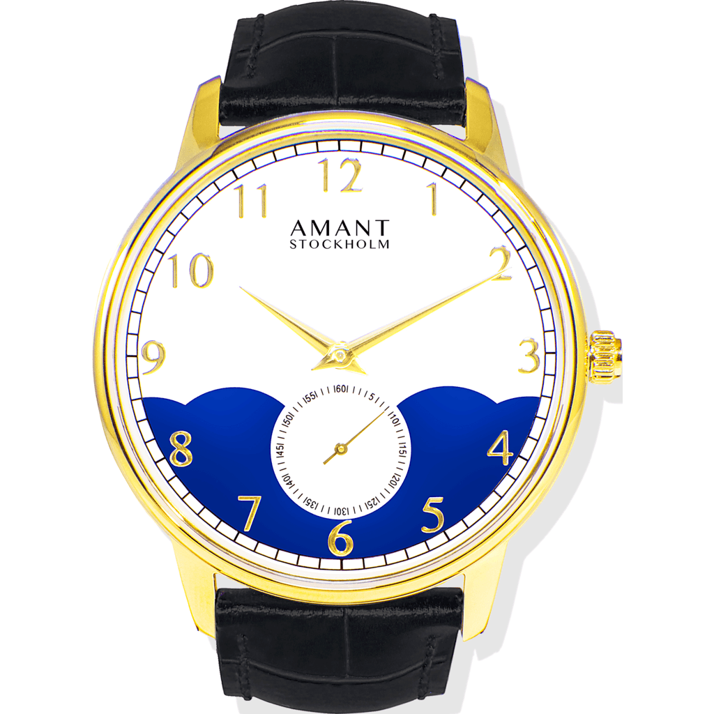 AMANT Stockholm Gold Watch | Black