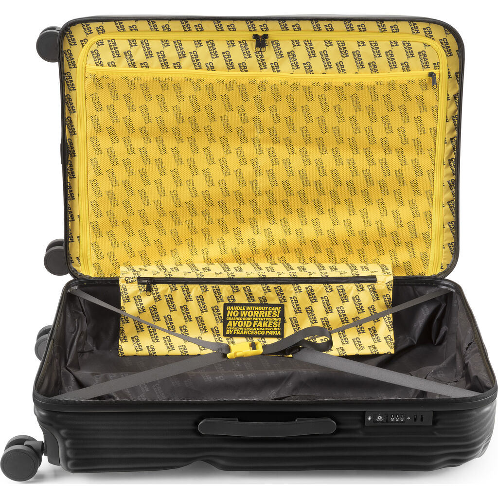 Crash Baggage Stripe Trolley Suitcase | Black --Large Cb153-01
