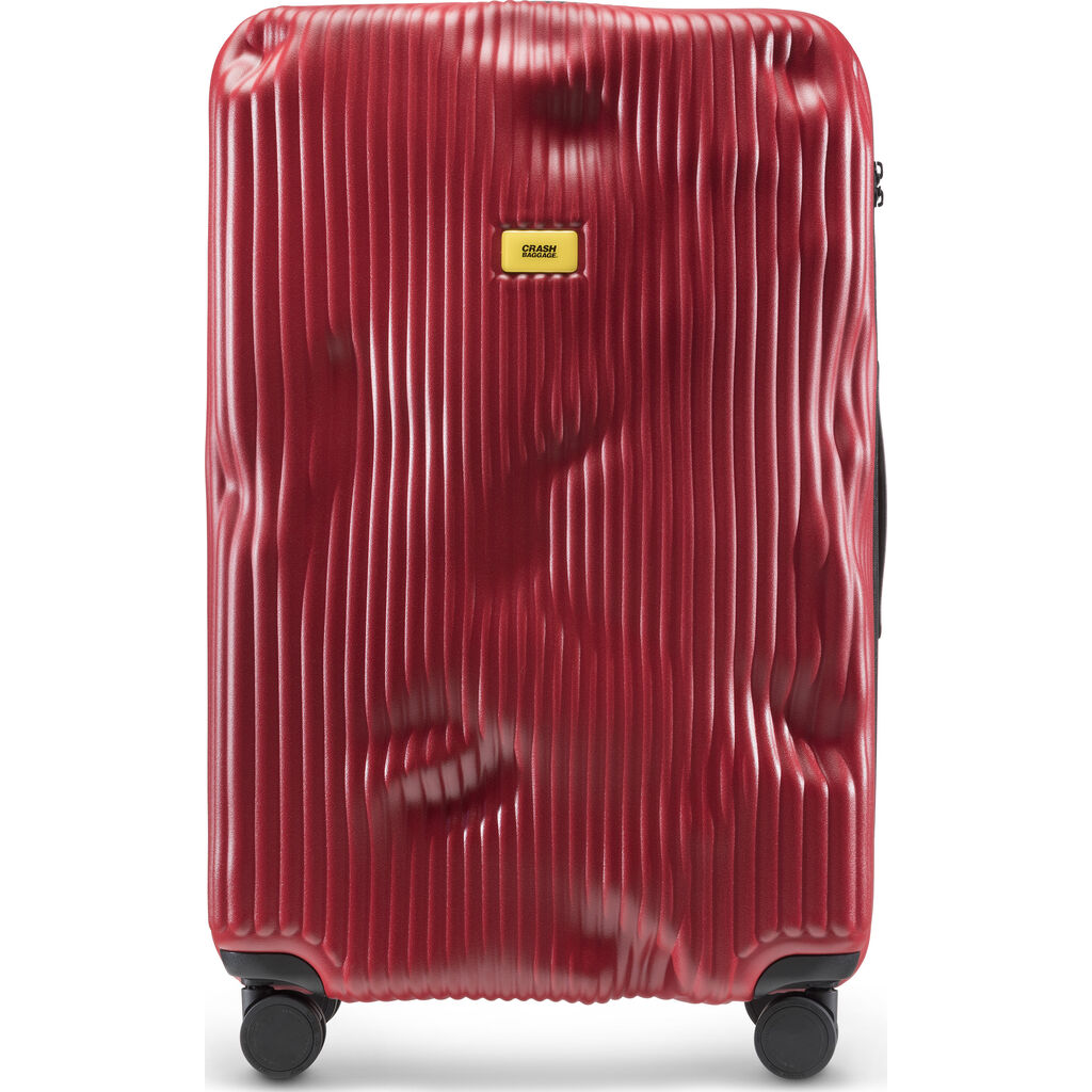 Crash Baggage Stripe Trolley Suitcase | Red --Large Cb153-16