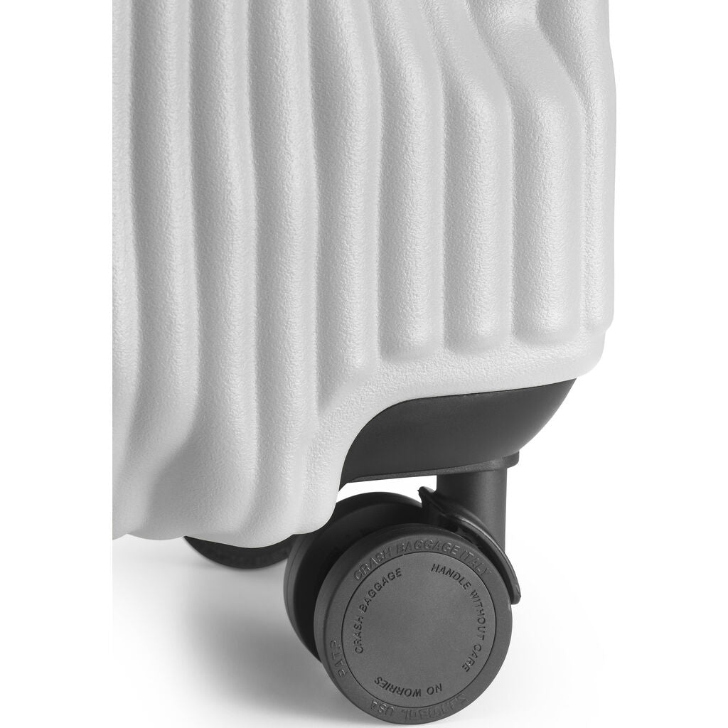 Crash Baggage Stripe Trolley Suitcase | White --Small Cb151 -17