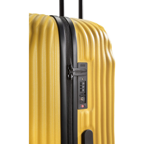 Crash Baggage Stripe Trolley Suitcase | Yellow --Large Cb153-04