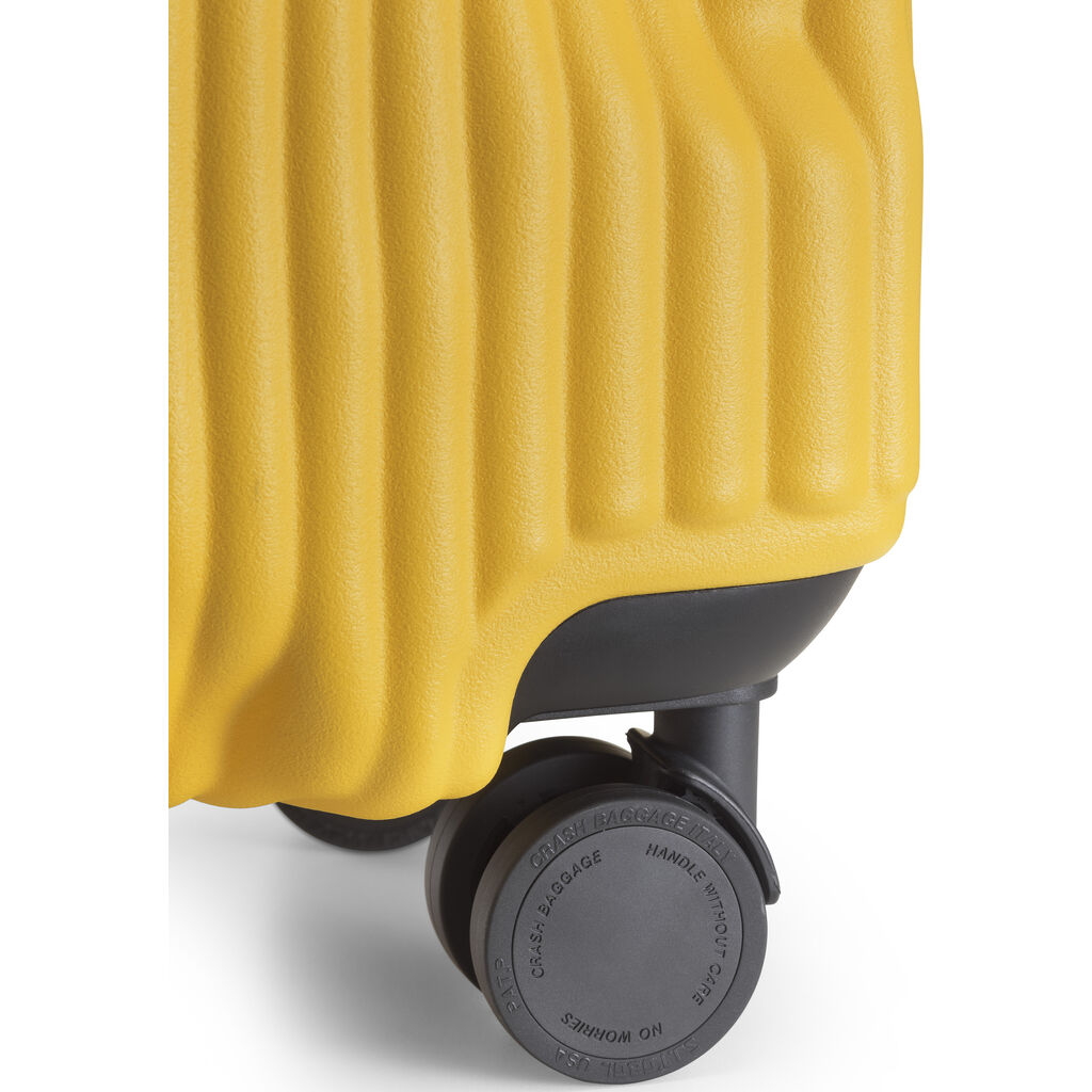 Crash Baggage Stripe Trolley Suitcase | Yellow --Small Cb151-04