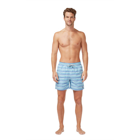Tom & Teddy Men's Stripe Swim Trunk | Ocean