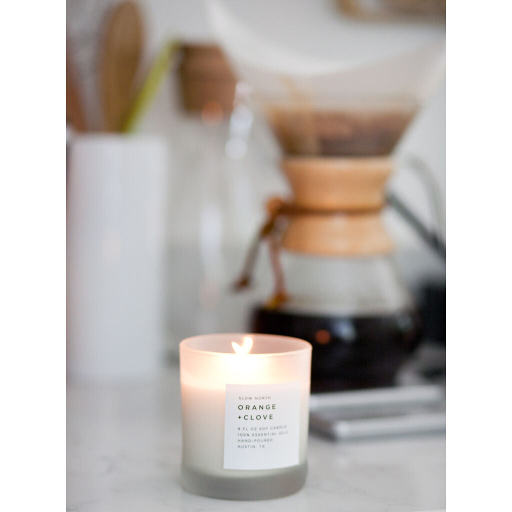 Slow North Tumbler Candle | Orange + Clove