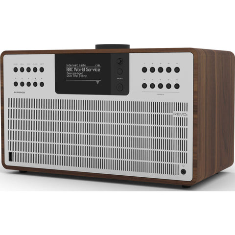 REVO Super CD Bluetooth Digital Radio | Walnut/Silver
