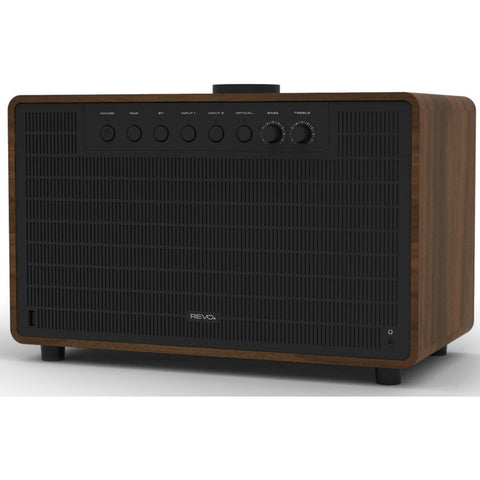REVO SuperTone Bluetooth Wireless Speaker | Walnut/Black