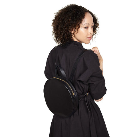 Minor History Super Moon Round Backpack | Black SPM_428_C