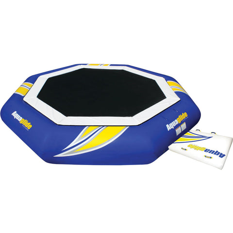 Aquaglide Supertramp 23 Inftable Trampoline w/ Swimstep | Yellow/Blue/White 58-5209103