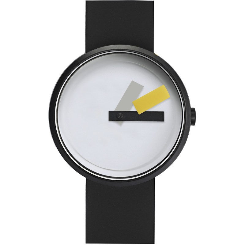 Projects Watches Suprematism Watch | Yellow/Black Silicone 7296 BS