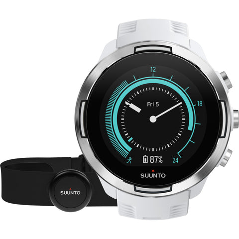 Suunto 9 G1 GPS Watch + HR Belt | Baro White