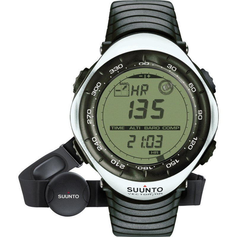 Suunto Vector HR Wristop Computer Watch | White SS015300000