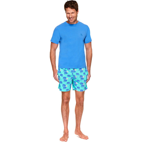 Tom & Teddy Men's T-Shirt | Atlantic Blue