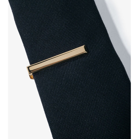 Hook & Albert Beveled Edge Tie Bar | Gold TBBES-GLD-OS