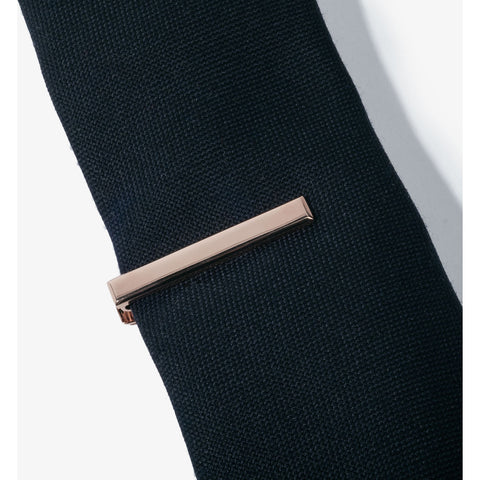 Hook & Albert Beveled Edge Tie Bar | Rose Gold TBBES-RGLD-OS