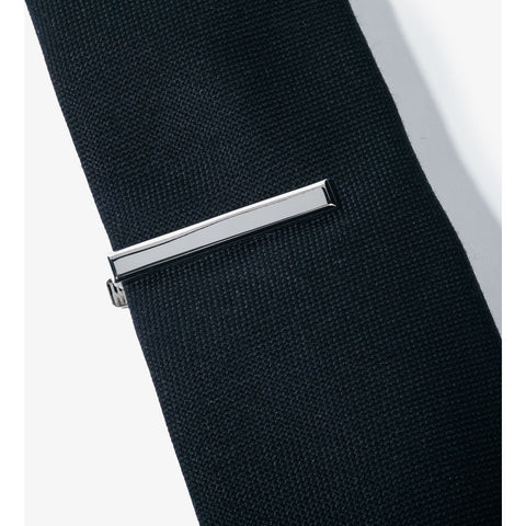 Hook & Albert Beveled Edge Tie Bar | Silver TBBES-SLV-OS