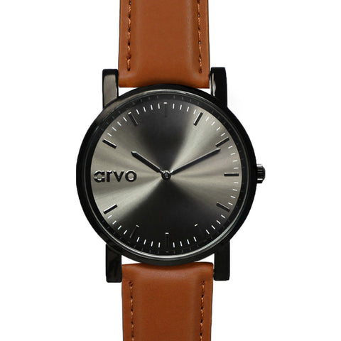 Arvo Black Timeus Edison Watch | Brown- TEBR