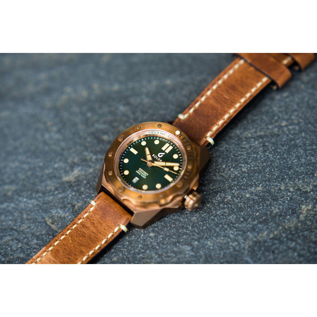 BOLDR Odyssey Automatic Dive Watch | Bronze Green