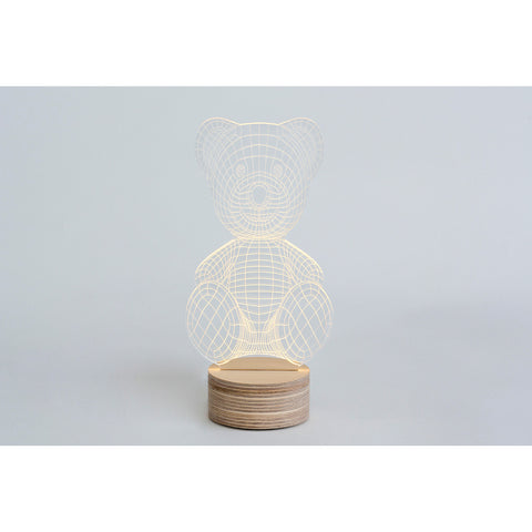 Studio Cheha Teddy Bear LED Table Lamp | Iron/Birch Ch-Bear