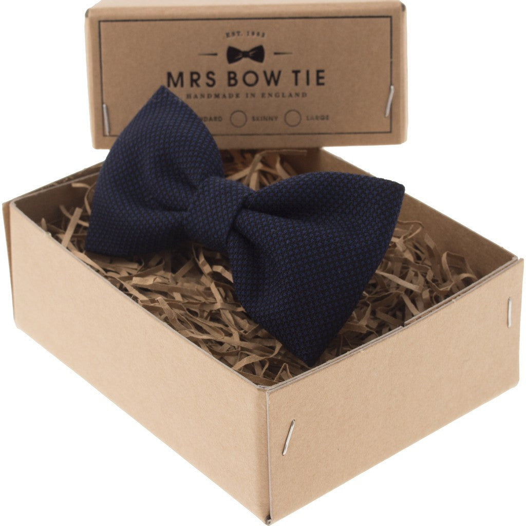 Mrs Bow Tie Cameron Ready-Tied Bow Tie | Blue TEXT168