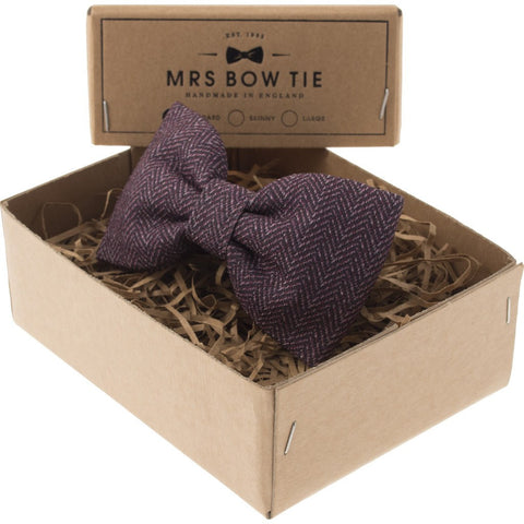 Mrs Bow Tie Duntrune Ready-Tied Bow Tie | Burgundy TEXT175