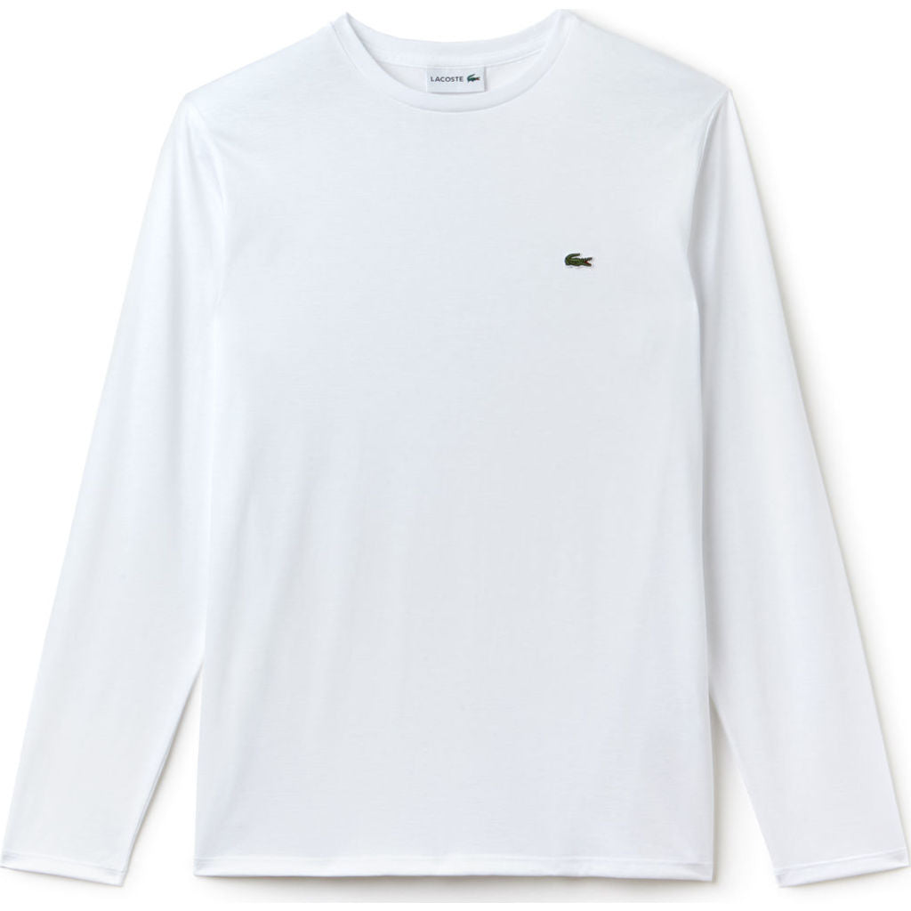 21d5a0c1d3524d Lacoste Long Sleeve Pima Men s T-Shirt in White - Sportique