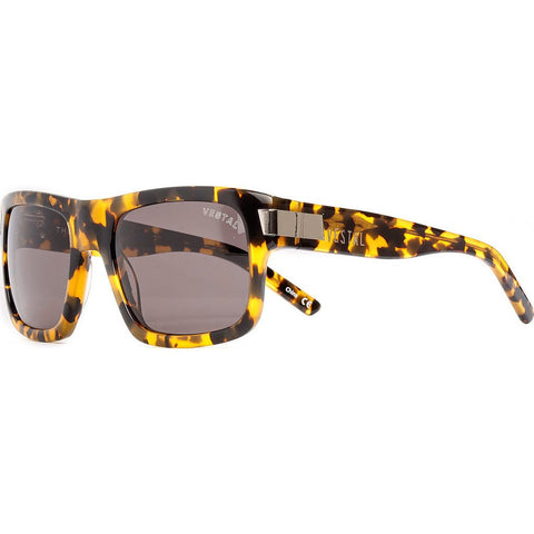 Vestal Theremin Sunglasses | Black And Gold Chunky Tort/Grey VVTH009