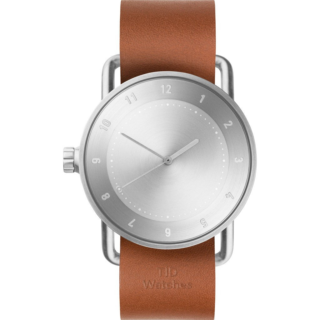 TID No. 2 Steel Watch | Tan Leather