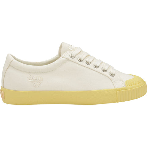 Gola Women's Tiebreak Candy Sneakers | White/Yellow