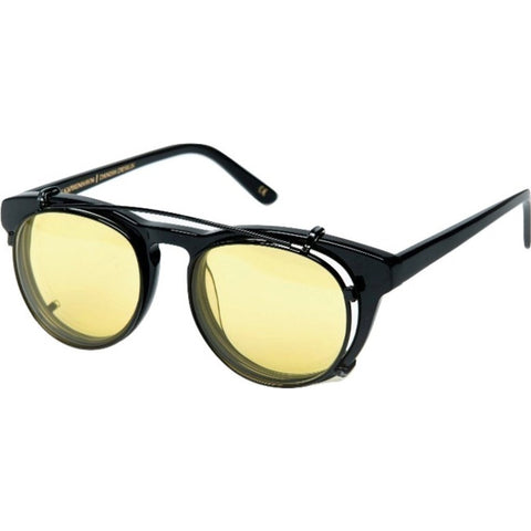 Han Kjobenhavn Timeless Clip-On Sunglasses | Black Yellow Lenses Frame-TL-CO-28-SUN