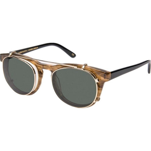 Han Kjobenhavn Timeless Clip-On Sunglasses | Horn / Black Frame-TL-CO-4-SUN