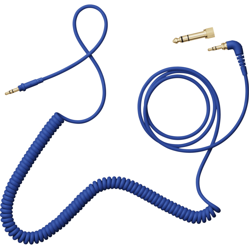 AIAIAI 1.5m Coiled Cable with Adaptor | Blue C08