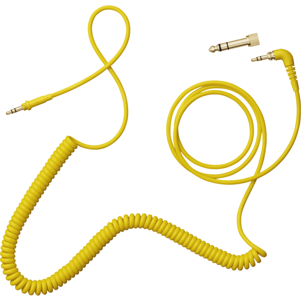 AIAIAI 1.5m Coiled Cable with Adaptor | Yellow C09